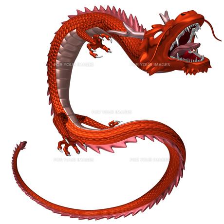 赤い龍 3Dイラストのイラスト素材 [FYI00766237]