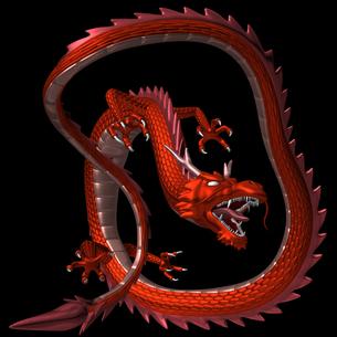 赤い龍 3Dイラストのイラスト素材 [FYI00766240]