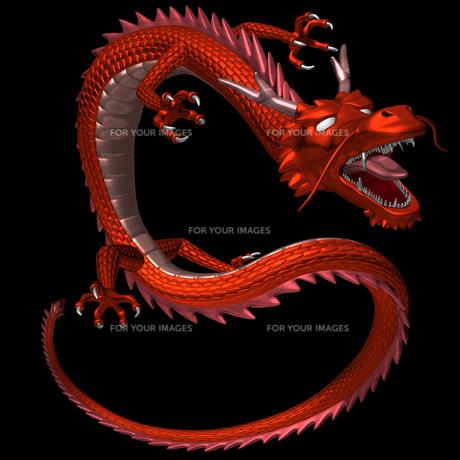 赤い龍 3Dイラストのイラスト素材 [FYI00766241]