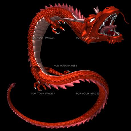 赤い龍 3Dイラストのイラスト素材 [FYI00766242]