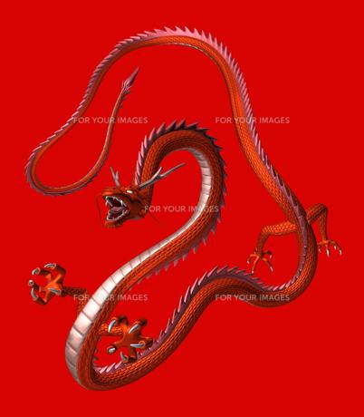 赤い龍 3Dイラストのイラスト素材 [FYI00766245]