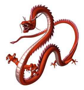 赤い龍 3Dイラストのイラスト素材 [FYI00766246]