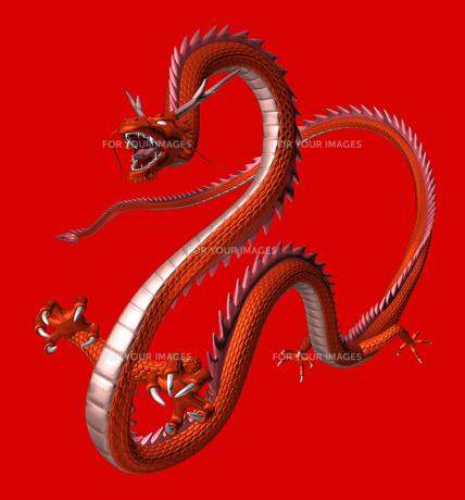 赤い龍 3Dイラストのイラスト素材 [FYI00766248]