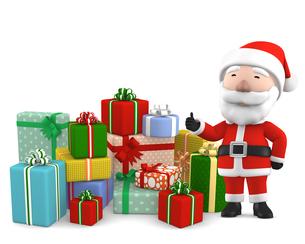 サンタクロースとプレゼントのイラスト素材 [FYI00766267]