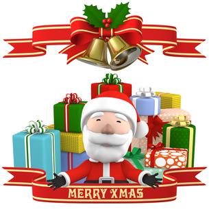 サンタとプレゼントのイラスト素材 [FYI00766274]