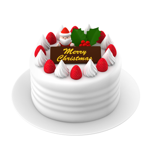 クリスマスケーキのイラスト素材 [FYI00766280]