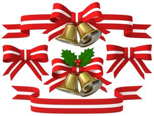 メリークリスマス ベル&リボンセットのイラスト素材 [FYI00766289]