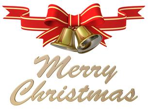 メリークリスマス ベル&リボンのイラスト素材 [FYI00766299]