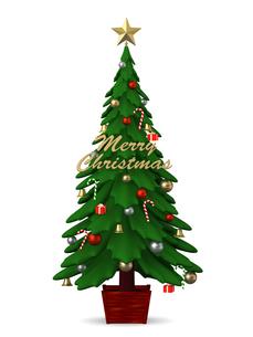 クリスマスツリーのイラスト素材 [FYI00766307]