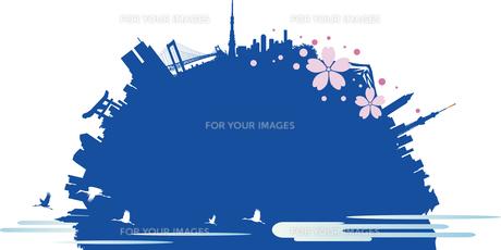 日本の観光の背景のイラスト素材 [FYI00766578]