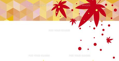紅葉の和風な背景のイラスト素材 [FYI00766591]