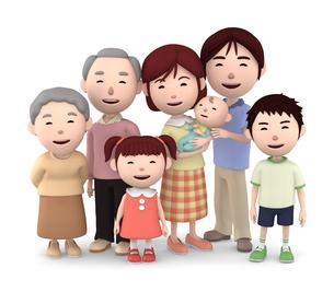 3世代家族のイラスト素材 [FYI00766606]