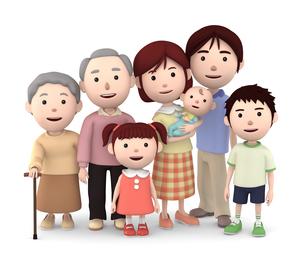 3世代家族のイラスト素材 [FYI00766607]