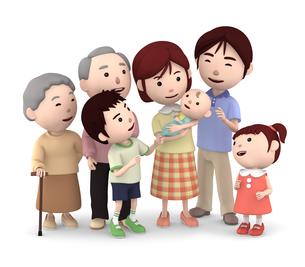 3世代家族のイラスト素材 [FYI00766608]