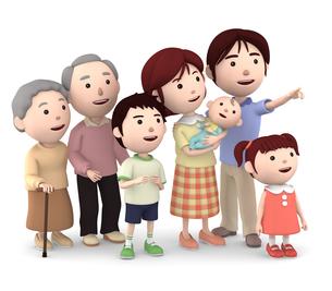 3世代家族のイラスト素材 [FYI00766610]