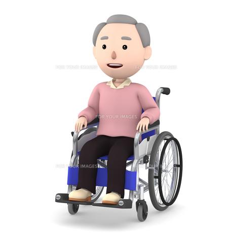 車いすのおじいさんのイラスト素材 [FYI00766619]