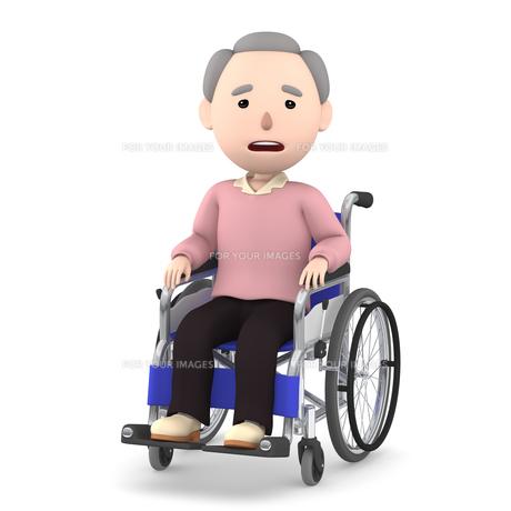 車いすのおじいさんのイラスト素材 [FYI00766621]
