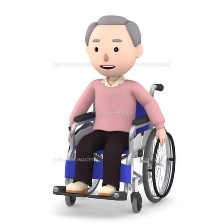 車いすのおじいさんのイラスト素材 [FYI00766624]