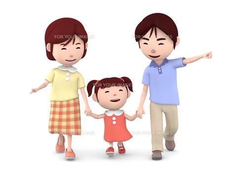 家族でお散歩 Fyi00766943 ロイヤリティフリーイラスト素材 高品質