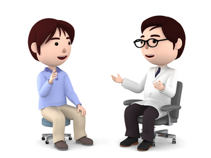 医者の診察、検診のイラスト素材 [FYI00767032]