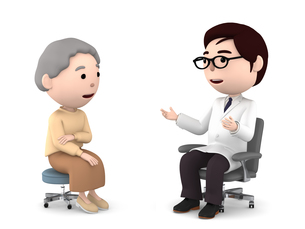 医者の診察、検診のイラスト素材 [FYI00767052]