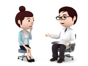 医者の診察、検診のイラスト素材 [FYI00767054]