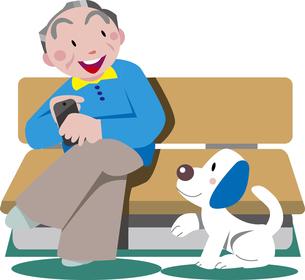 老人と犬のイラスト素材 [FYI00767167]