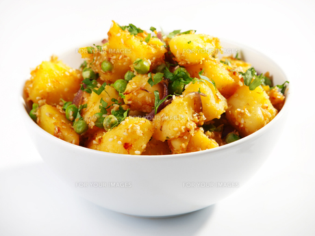 Potatos with sesame and cilantro,Potatos with sesame and cilantro,Potatos with sesame and cilantro,Potatos with sesame and cilantroの写真素材 [FYI00767433]