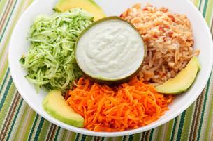 Vegetable salad,Vegetable salad,Vegetable salad,Vegetable saladの写真素材 [FYI00767437]