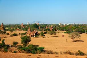 Bagan Skyline, Myanmar,Bagan Skyline, Myanmar,Bagan Skyline, Myanmar,Bagan Skyline, Myanmarの写真素材 [FYI00767496]