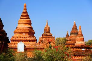 Ancient pagodas in Bagan, Myanmar,Ancient pagodas in Bagan, Myanmar,Ancient pagodas in Bagan, Myanmar,Ancient pagodas in Bagan, Myanmarの写真素材 [FYI00767503]