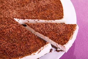 Chocolate cheesecake,Chocolate cheesecake,Chocolate cheesecake,Chocolate cheesecakeの写真素材 [FYI00767504]