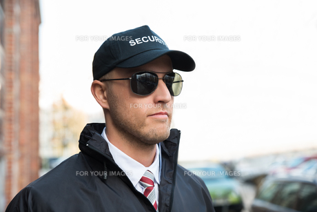 Portrait Of Young Security Guardの写真素材 [FYI00767565]