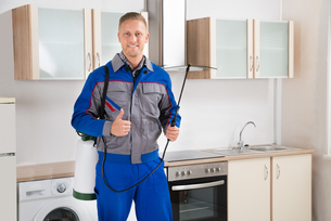 Pest Control Worker With Insecticide Sprayerの写真素材 [FYI00767609]
