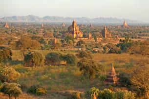 Ancient pagodas in Bagan, Myanmar,Ancient pagodas in Bagan, Myanmar,Ancient pagodas in Bagan, Myanmar,Ancient pagodas in Bagan, Myanmarの写真素材 [FYI00767727]