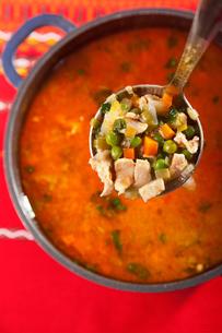 Minestrone soup,Minestrone soup,Minestrone soup,Minestrone soupの写真素材 [FYI00767732]