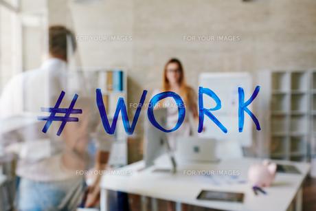 Hashtag workの写真素材 [FYI00767982]