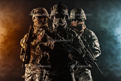 paratroopers airborne infantryの写真素材 [FYI00768278]