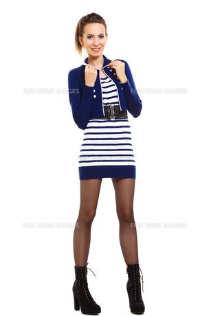 fashion photo of young woman in full length. girl posing.の素材 [FYI00769201]