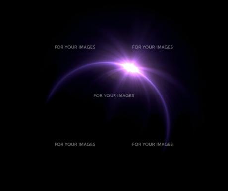 Solar eclipse purple ring flareの写真素材 [FYI00769624]