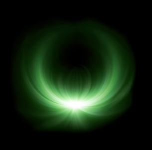 green half ring lens flare glowの写真素材 [FYI00769635]