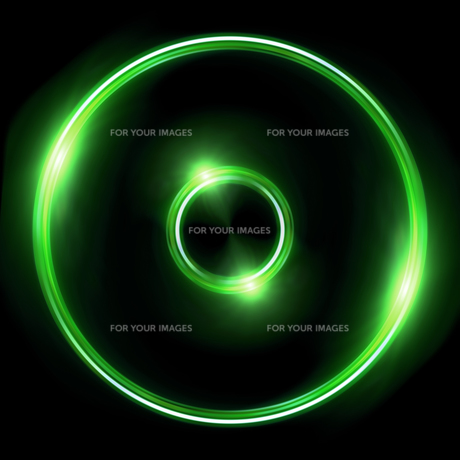 green Lens ring flares double circleの写真素材 [FYI00769643]