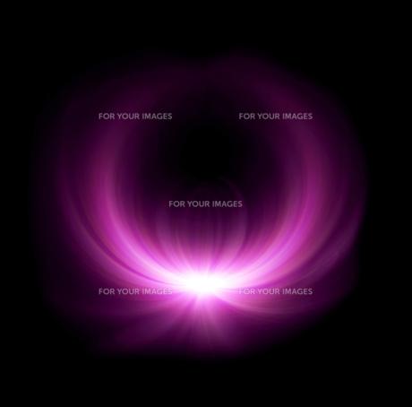 magenta half ring lens flare glowの写真素材 [FYI00769650]