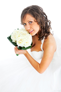Young bride with wedding bouquet,Young bride with wedding bouquet,Young bride with wedding bouquet,Young bride with wedding bouquetの写真素材 [FYI00769769]
