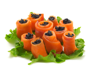 Salmon Rolls with Caviar,Salmon Rolls with Caviar,Salmon Rolls with Caviar,Salmon Rolls with Caviarの写真素材 [FYI00770341]
