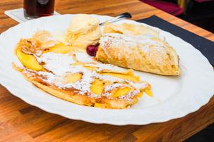 eggs pancakesの写真素材 [FYI00770637]