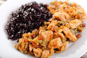 Turkey with capers and wild rice,Turkey with capers and wild rice,Turkey with capers and wild rice,Turkey with capers and wild riceの写真素材 [FYI00771074]