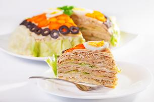 Salty pancake cake,Salty pancake cake,Salty pancake cake,Salty pancake cakeの写真素材 [FYI00771085]