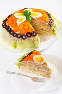 Salty pancake cake,Salty pancake cake,Salty pancake cake,Salty pancake cakeの写真素材 [FYI00771096]