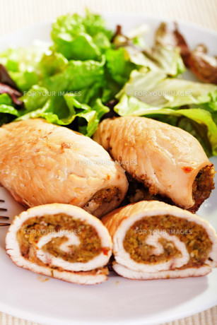 Turkey roulade,Turkey roulade,Turkey roulade,Turkey rouladeの写真素材 [FYI00771112]